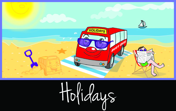 Holiday minibus tours and service